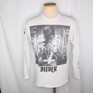 Justin Bieber Long Sleeve Purpose Concert Shirt